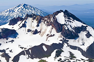 Mt. Bachelor, Oregon Cascades, Oregon, Usa, Snow-Covered Mountain Peak