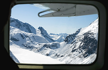 View Of Coast And Chilkat Mountains From Airplane, Juneau, Alaska