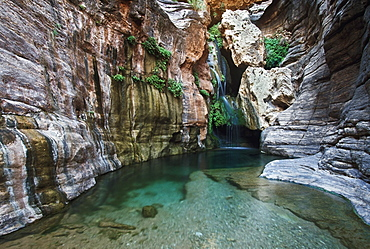 Waterfall And Pool, Elves Chasm, Grand Canyon National Park, Arizona, Usa