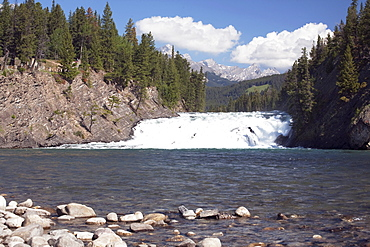 Bow Falls, Bow River, Banff National Park, Alberta, Canada