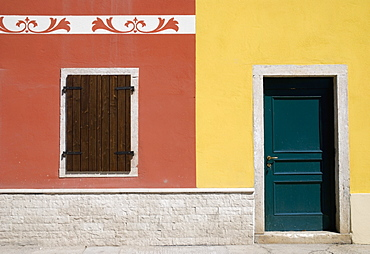 Asiago, Italy, Colorful House Front In Italy