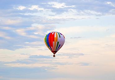 Hot Air Balloon In Flight, St. Jean Sur Richelieu, Quebec, Canada