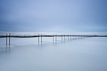 A Long Walking Bridge Over The Water, Iceland