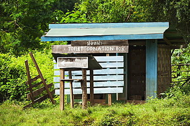 A Washroom In A Long Necked Village Called Huay Pu Keng Near Mae Hong Son, Mae Hong Son Province, Thailand