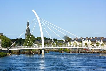 The New Bridge And Houses, Ballina, County Mayo, Ireland