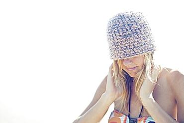 A Girl Wearing A Beanie Hat, Portugal