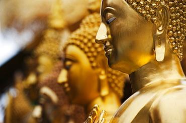 Buddhas In A Row At Doi Sutep Temple, Chiang Mai, Thailand