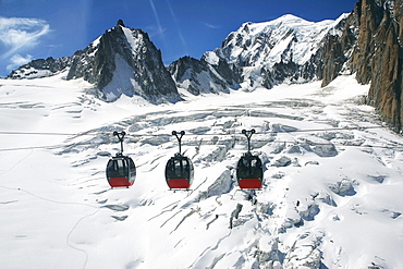 Cable Car Of Heilbroner Between France And Italy, Chamonix, France
