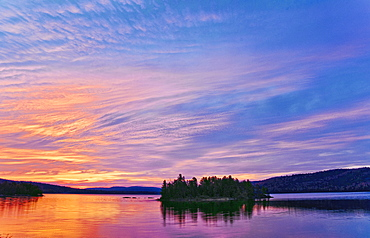 Sunrise On Two Rivers Lake. Algonquin Provincial Park, Ontario. Canada.