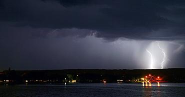 Lightning At Night, Echo Lake, Saskatchewan, Canada