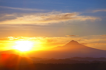 Sunrise Over Mount Hood, Oregon, United States of America