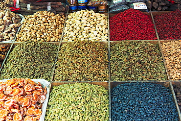 Variety Of Dried Fruit And Nuts On Display For Sale