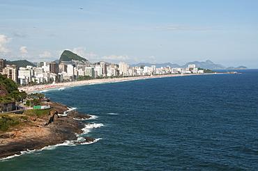 View of the buildings along the coastline, Rio de janeiro brazil
