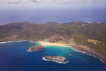 Aerial View Of The Coastline, Praia Do Leao Fernando De Noronha Pernambuco Brazil