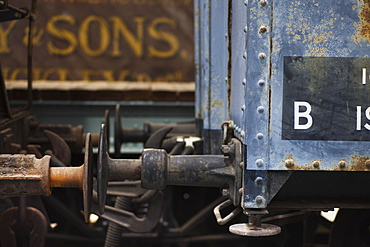 Train Cars And Rusted Clamps, Shildon, Durham, England