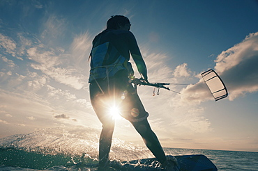 Kitesurfing, Tarifa, Cadiz, Andalusia, Spain