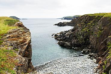Rugged Cliffs Along The Atlantic Coastline, Little Catalina, Newfoundland And Labrador, Canada