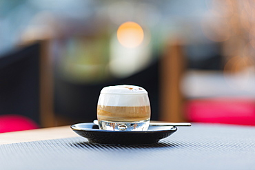 An Espresso Drink With Foam, Ascona, Ticino, Switzerland