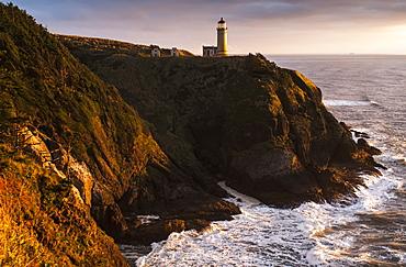Evening Light Warms North Head Lighthouse, Ilwaco, Washington, United States Of America