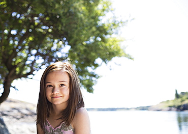 Portrait Of A Girl With The Ocean In The Background, Victoria, British Columbia, Canada