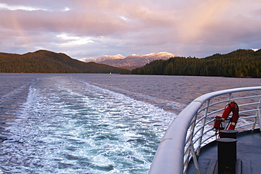 A Typical Winter View Along The Alaska Marine Highway, British Columbia, Canada
