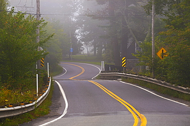 Foggy Morning On The Road, Foster, Quebec, Canada
