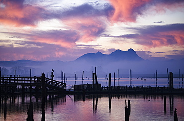 Youngs Bay And Saddle Mountain, Astoria, Oregon, United States Of America