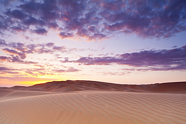 Sunset Over The Sand Dunes, Liwa Oasis, Abu Dhabi, United Arab Emirates
