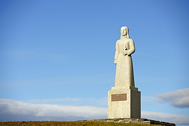 Landsyn, Statue In The Image Of The Angel, Church Of Strandarkirkja, Porlakshofn, Arnessysla, Iceland