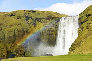 Skogafoss Waterfall, Skogar, Rangarping Eystra, Iceland