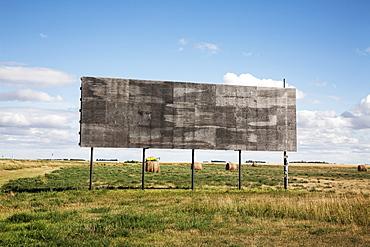 An Empty Billboard Beside A Farm Field, Alberta, Canada