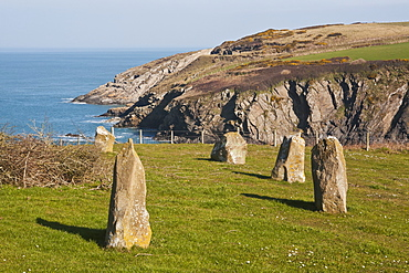 Stone Circle West Of Trefin On Pembrokeshire Coast Path, Pembrokeshire, Wales