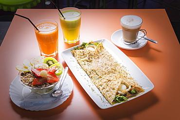 A Traditional Spanish Breakfast, Tarifa, Cadiz, Andalusia, Spain