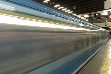 Motion Blur With The Speed Of The Subway, Santiago, Santiago Metropolitan Region, Chile