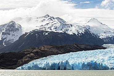 Grey Glacier And Grey Lake, Torres Del Paine National Park, Torres Del Paine, Magallanes And Antartica Chilena Region, Chile