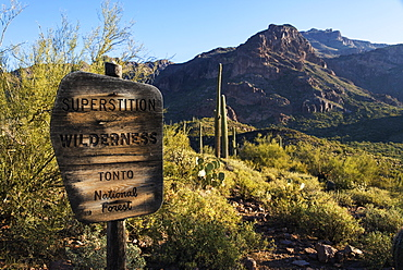Superstition Mountains, Tonto National Forest, Arizona, United States Of America