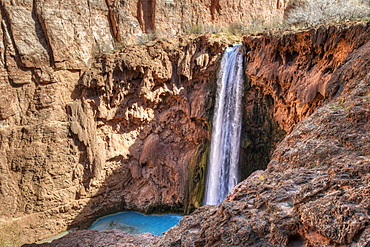 Mooney Falls, Havasupai Reservation, Arizona, United States Of America