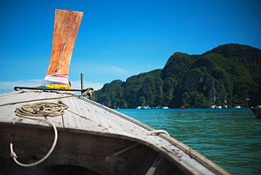 A View From A Boat Of The Coast Of The Island Of Koh Phi Phi In The Andaman Sea, Thailand