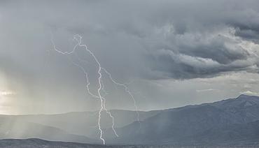 Lightning Strike In The Mountains Surrounding Cochabamba, Cochabamba, Bolivia