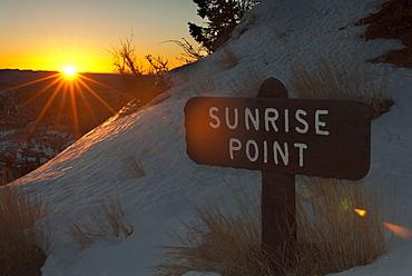 Winter Sunrise At Sunset Point, Bryce Canyon National Park, Utah, United States Of America