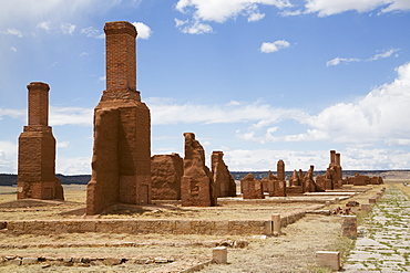 Remains Of Buildings At Fort Union National Monument, New Mexico, United States Of America