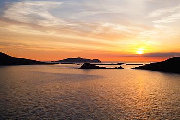 Sunset Over Blasket Islands, Near Dunquin, Dingle, County Kerry, Ireland