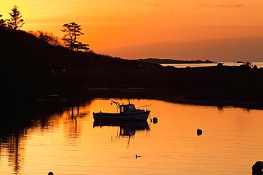 Sunset At Rosdohan Pier, Near Sneem, County Kerry, Ireland