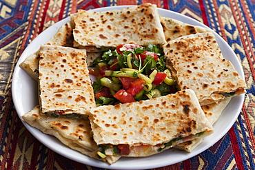 Traditional Cappadocian Dish Called Gozleme, Goreme, Cappadocia, Turkey