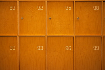 Numbered Wooden Lockers, Stockholm, Uppland, Sweden