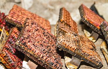 Copper Block Stamps, Called Cap Used In The Production Of Printed Batik At Gunawan Setiawan Batik Shop, Kampung Kauman, Surakarta (Solo), Central Java, Indonesia