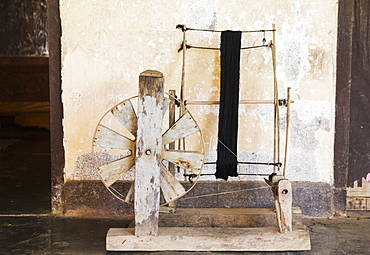 Spinning Wheel At The Home Of A Weaver, Sidemen, Bali, Indonesia