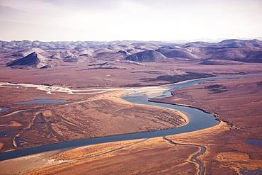 Noatak River, The Igichuk Hills And Surrounding Lakes And Tundra, Noatak, Alaska, United States Of America