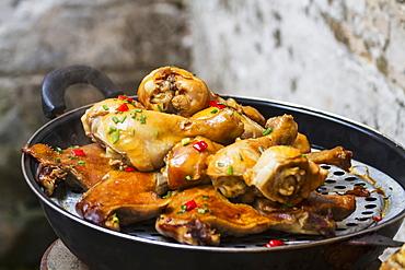 Barbecued Chicken, Hongcun, Anhui, China