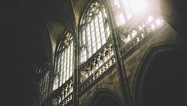 Daylight Through The Windows Of St. Vitus Cathedral At Prague Castle, Prague, Czech Republic